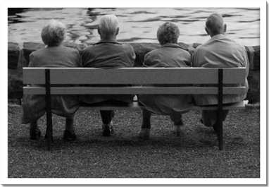 Group on a bench